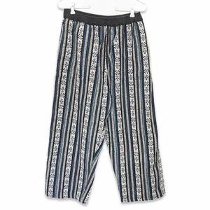 Vintage Mairom woven boho wide leg pants